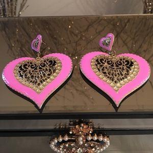 Pink Heart Earrings💕